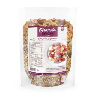 granola con fruta liofilizada